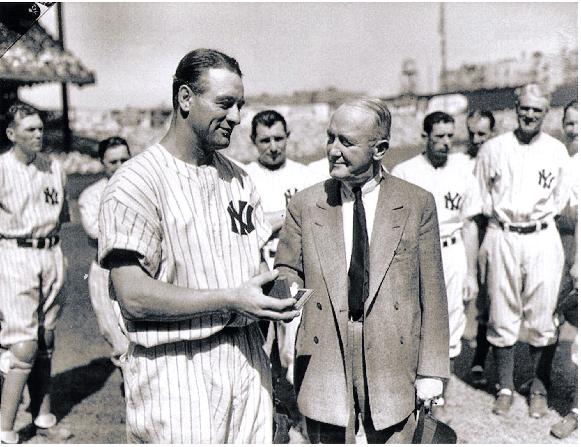 M COHAN WITH LOU GEHRIG